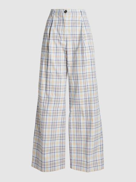 Baum und Pferdgarten - Nilini Checked Cotton-Blend Trousers