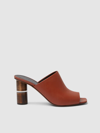 NEOUS - Cerato Bloch Heel Leather Mules