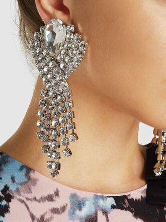 Alessandra Rich - Crystal Pendant Earrings
