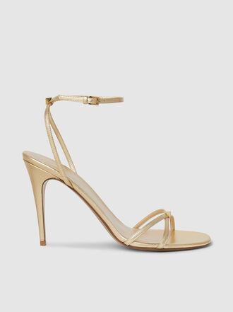 Valentino - Valentino Garavani Strappy Heeled Leather Sandal