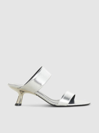 Simon Miller - Short Tee Metallic Leather Straps Heels