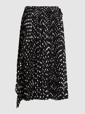 Marc Jacobs - Polka Dot Pleated Flowing Skirt