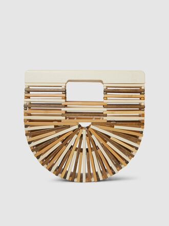 Cult Gaia - Tonal Wood Mini Arc Bag