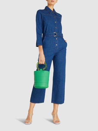 M.i.h Jeans - Harper Belted Flared Jumpsuit