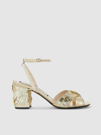 N°21 - Tassel Sequinned Sandals