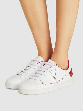 Valentino - Valentino Garavani V-Logo Leather Sneakers