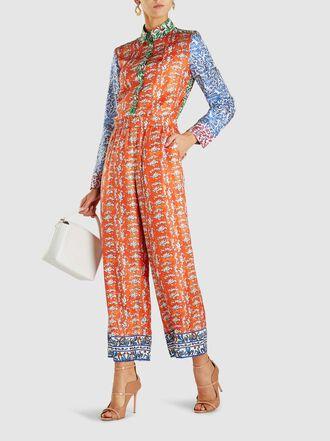 Escada - Twila Printed Silk Trousers