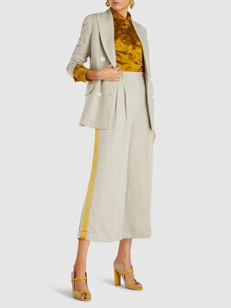 Racil - Casablanca Striped Linen Blazer