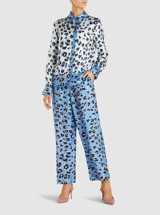 Escada - Twila Leopard Print Silk Trousers