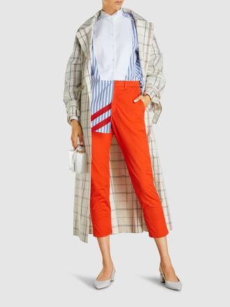 Escada - Striped Long Sleeve Cotton Shirt