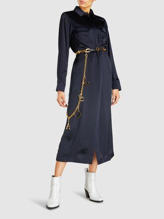 Escada - Heart Chain & Leather Waist Belt
