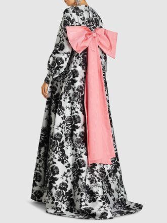 ERDEM - Clover Floral Print Bow Back Gown