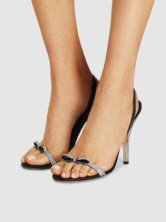 Marco de Vincenzo - Embellished Bow Strap Slingback Sandals