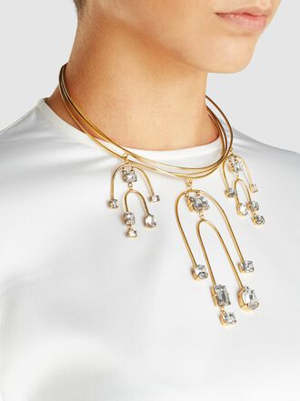 ERICKSON BEAMON - Crystal and Gold-Tone Mobile Necklace