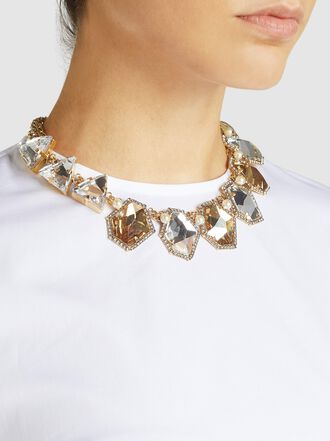 ERICKSON BEAMON - Gold Plated Crystal Necklace