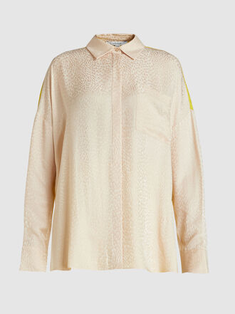 LAYEUR - Ingrid Two-Tone Panelled Crepe Shirt
