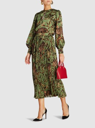 Johanna Ortiz - Jungle Print Pleated Midi Skirt