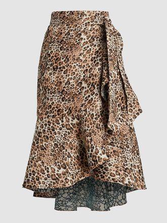 Johanna Ortiz - Leopard Print Wrap Skirt