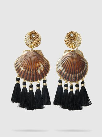 Mercedes Salazar - Fiesta Shell Fringed Earrings