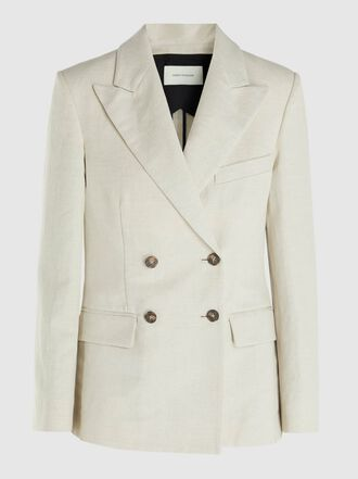 Cédric Charlier - Double-Breasted Linen-Blend Blazer