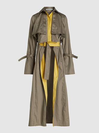 Silvia Tcherassi - Sidney Layered Cotton Trench Coat