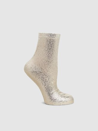 Maria La Rosa - Metallic Silk-Blend Ankle Socks