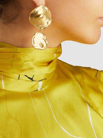 ALIGHIERI - Il Fuoco Flame Gold-Tone Earrings