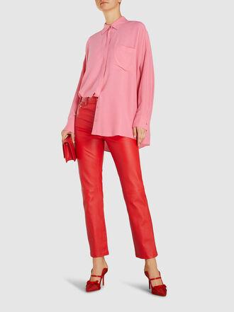 LAYEUR - Ingrid Long Sleeve Crepe Shirt