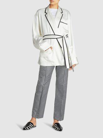 Haider Ackermann - Monochrome Open Lapel Silk-Viscose Pyjama-Style Shirt