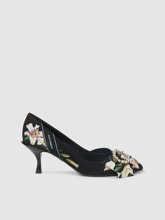 Dolce & Gabbana - Crystal-Embellished Printed Satin Pumps