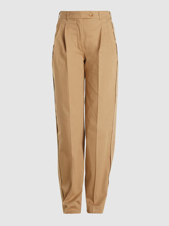 LAYEUR - Leigh Tailored Mens-Inspired Cotton-Blend Trousers
