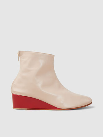 MARTINIANO - Glove Two-Tone Leather Wedge Boots