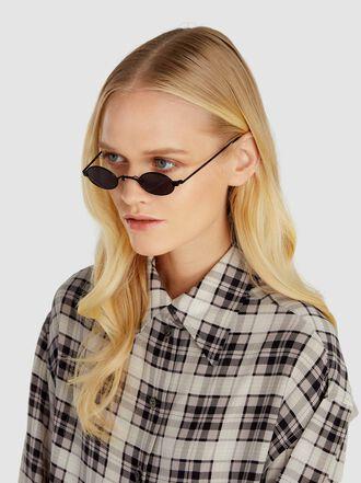Roberi & Fraud - Doris Metal Oval Sunglasses