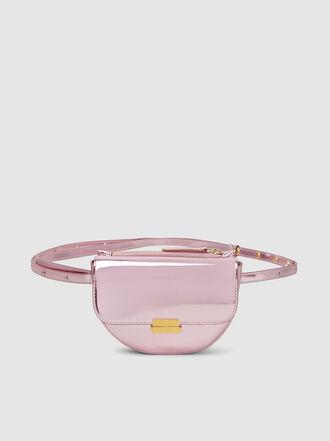WANDLER - Anna Metallic Leather Belt Bag