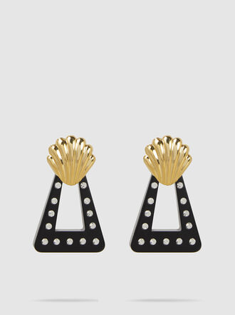 Rixo - Helene Gold-Plated Shell Earrings