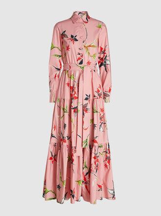 La DoubleJ - Bellini Floral Print Cotton Maxi Dress