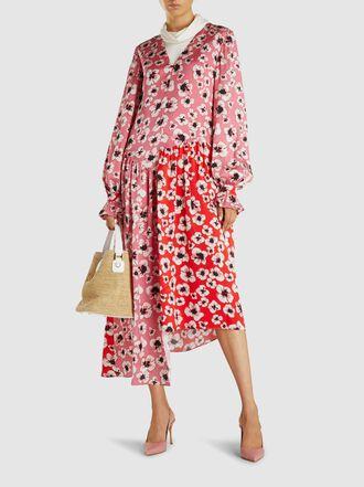Borgo de Nor - Gia Floral Print Silk Midi Dress