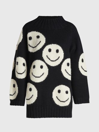 Marc Jacobs - Smiley Intarsia Monochromatic Wool Sweater