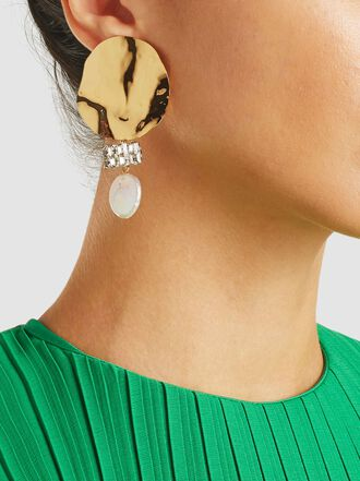 Rachel Comey - Ambient Shell Swarovski Crystal Earrings