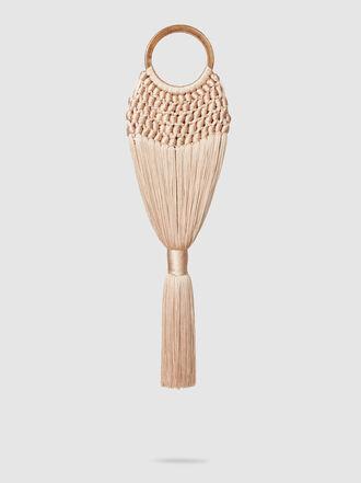 Cult Gaia - Angelou Mini Woven Tasseled Clutch