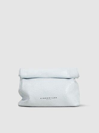 Simon Miller - Lunchbag 30 Crackled Leather Clutch