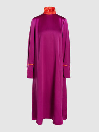 Roksanda - Ruffled Hammered Silk-Satin Midi Dress