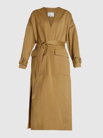 3.1 Phillip Lim - Long Sleeve Satin Overcoat
