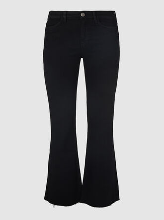 M.i.h Jeans - Lou Frayed Cropped Flared Jeans