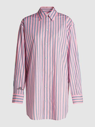 Marc Jacobs - Oversized Pinstripe Menswear-Inspired Cotton Shirt