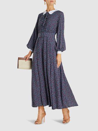 Gül Hürgel - Polka Dot Crepe Maxi Dress