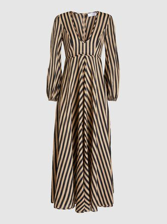 Zimmermann - Jaya Striped Cotton Midi Dress