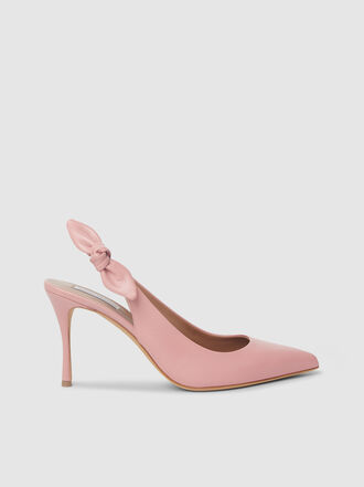 Tabitha Simmons - Millie Slingback Bow Leather Pumps