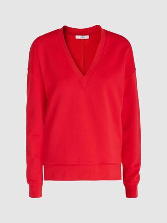 Tibi - Draped Jersey Sweatshirt