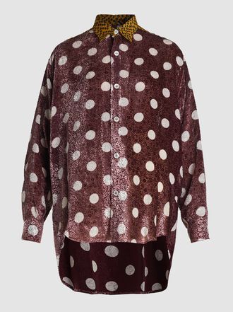 Golden Goose Deluxe Brand - Lavanda Polka Dot Silk-Blend Shirt